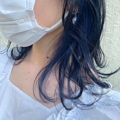 ブルーの産毛カラー♪
